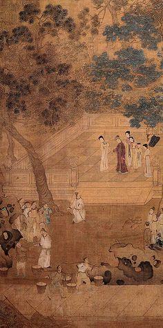 宋元-钱选-贤母图    Painted by the Song Dynasty artist Qian Xuan 钱选.