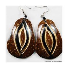 Coconut Shell Earrings 722-1-98
