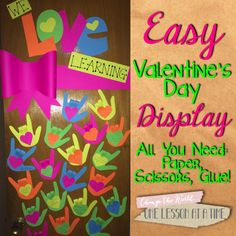 One Lesson at a Time: Valentine's Day Bulletin Board/Door for the Craft-Phobic Teacher