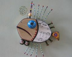 Tonno, originale trovata Scultura oggetto, sculture in legno, arte della parete, da Fig Jam Studio