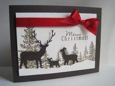 Merry Christmas Deer by lisaadd - Cards and Paper Crafts at Splitcoaststampers
