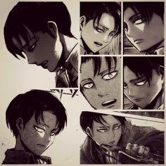 """Shingeki no kyojin Favorite photos of levi in the manga"""