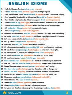 IDIOM: 1500+ English Idioms & Sayings from A-Z with Examples - 7 E S L