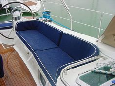 Fabric for sailboat cushions | Customize your boat with Bay Yacht Agency Group. We offer new and ...