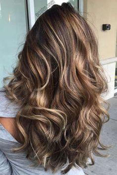 Resultado de imagen para brown hair with caramel highlights