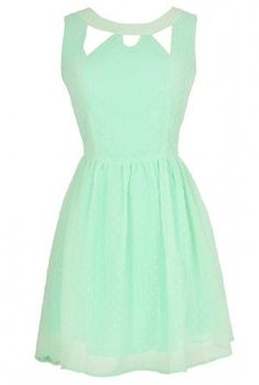 Mint cutout dress