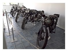 a part of the classic motorcycles exhibition