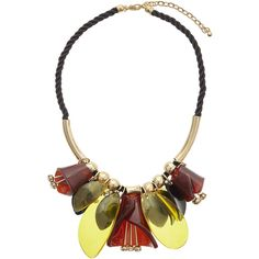 TOPSHOP Flower Shape Collar ($18) ❤ liked on Polyvore featuring jewelry, necklaces, brown, blossom jewelry, flower jewelry, blossom necklace, brown necklace and collar jewelry
