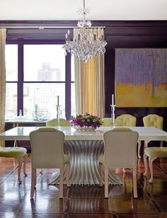 Hate this dining room but I want some deep eggplant somewhere in the house. Still rooting for powder room.