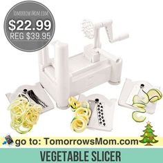 It's Back! Get this deal on this spiral vegetable slicer now $22.99 (Regular $39.95) . Click link in my bio @tomorrowsmom -read . Free Shipping with Prime or $35  Type this link on your browser: . TomorrowsMom.com  or follow the link in my Bio a@Tomorrowsmom at TomorrowsMom.com #tomorrowsmom . #holidays #christmas #gifts #frugal #savings #deals #cosmicmothers #feminineenergy #loa #organic #fitmom #health101 #change #nongmo #organiclife #crunchymama #organicmom #gmofree #organiclifestyle…