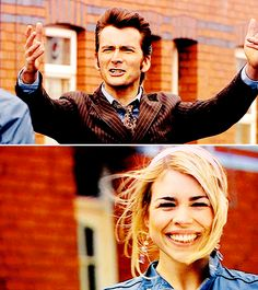"""The Doctor + Rose Tyler: """"The nation throwing off the shadows of war and looking forward to a happier, brighter future."""" #doctorwho"""