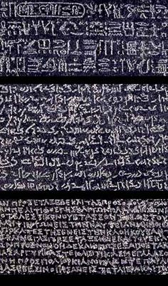 "Of all the British Museum's exhibits from Egypt, one that has occupied the most prominent position is the famous Rosetta Stone. It contains a decree issued by Egyptian priests in 196 B.C.E. to honor the ""god"" Ptolemy V Epiphanes. The 10 Plagues proved the Egyptian deities were powerless. *Read EXODUS from The Bible. Also: Insight Vol. 1 EGYPT; Language www.jw.org   Samples: 3 different scripts on the Rosetta Stone - Heiroglyphs, Demotic, Greek. unmuseum.org"