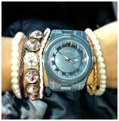 Marc Jacobs Watch & Forever 21 bracelets.