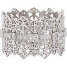 Grace Lee Diamond & White Gold Lace Crown Ring @ReinaIndy https://www.facebook.com/ReinaIndybelleza
