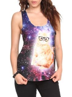 Space Cat Girls Tank Top from Hot Topic. Shop more products from Hot Topic on Wanelo. Pretty Outfits, Cool Outfits, Fashion Outfits, Diy Fashion, Space Cat, Tank Girl, Types Of Fashion Styles, Style Inspiration, Clothes For Women
