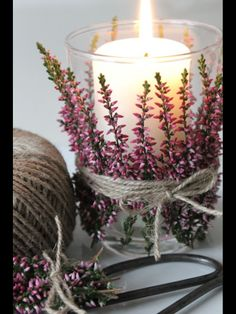 Love the way this votive is decorated