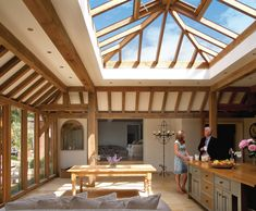 traditional Garden room 35 Orangeries Ideas or How to Choose the Ideal Garden November orangery is a traditional adaptation to the home and is very different in both design and construction to that of a conse. Brick Extension, Extension Google, Garden Room Extensions, Kitchen Extensions, Luz Natural, Oak Framed Buildings, Oak Frame House, Paint Colors For Home, Design Case