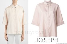 3 June 2016 - Madeleine style: JOSEPH Pink Kimono Sleeve Shirt