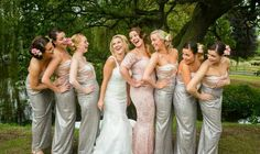 Bevvy of beauty from Hair Hostess UK bridesmaids styled by Tracey bride with Fay Bridesmaids, Bridesmaid Dresses, Wedding Dresses, Bridal Hair, Awards, Stylists, Beauty, Style, Fashion