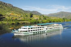 Sailing along Portugal's River Douro was the perfect way to test the cruising water | via The Mirror 26.09.2013 | Photo: The Fernao de Magalhaes ship sailing along the River Douro