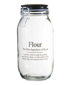 Loving this 'Flour' 74-Oz. Storage Jar on #zulily! #zulilyfinds