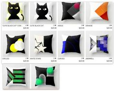 http://society6.com/JensenMerrell/pillows Add pops of color to your space with these colorful throw pillows.
