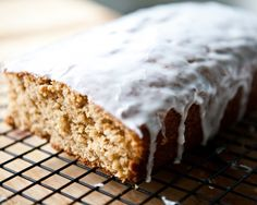 A treat with a wholesome touch: Boozy Whole-Grain Eggnog Loaf.