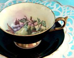 Antique Tea Cup and Saucer 1920's Tea Cup Tea by VintageTeacupShop