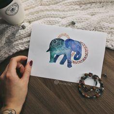 #tattoo #tat #tattoosketch #tattoosketches #tattooartist #art #artlife #artoftheday #artist #pic #picoftheday #picture #illustrator #illustration #illustrate #vsco #vscocam #color #watercolor #watercolortattoo #linework #line #mandala #instaart #elephant #elephanttattoo