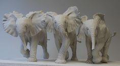 Nick Mackman Animal Sculpture Ceramic Animals, Clay Animals, Carlos Mata, Animal Sculptures, Ceramic Sculptures, Elephant Sculpture, Prehistoric Animals, African Animals, Ceramic Clay