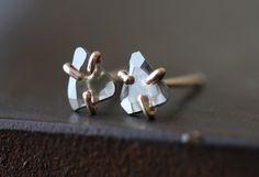 Natural Diamond Slice Stud Earrings – Alexis Russell
