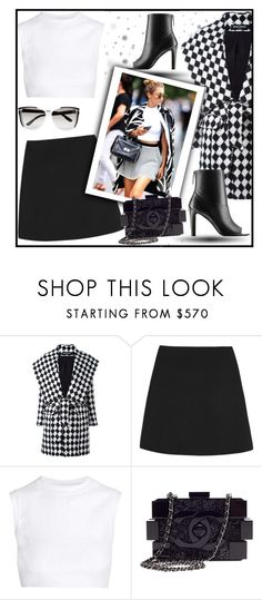 """""""Sem título #1048"""" by fashionmodelstyle ❤ liked on Polyvore featuring Balmain, Valentino, Alaïa, Chanel and STELLA McCARTNEY"""