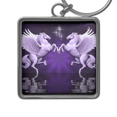 Shop Pink Pegasus Reflections Key Chain created by BlueRose_Design. Charm Rings, Purple, Pink, Blue, Pegasus, Your Image, Silver Color, Colorful Backgrounds, Reflection
