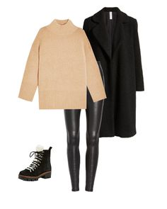 The Spanx leather leggings are a favorite in the Everygirl office, so we're sharing all the different ways you can wear them this winter. Legging Outfits, Black Leggings Outfit, Leder Outfits, Leggings Fashion, Leggings Mode, Sweaters And Leggings, Tribal Leggins, Minimalist Winter Outfit, Minimalist Style