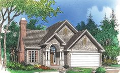 Default Image of The Clematis - House Plan Number 255 - Love this 1.5 story home with a balcony overlooking a great room. Ahhh cedar shakes at the top and siding on the bottom. Perfect.