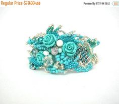ON SALE Turquoise cuff bracelet  Handmade Gifts for her  by ibics