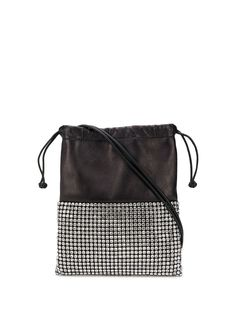 Shop online Alexander Wang Ryan rhinestone dust mini bag for Discover new season items from the world's best luxury designer brands. Leather Backpack Purse, Purse Wallet, Drawstring Backpack, Designer Shoulder Bags, New York Style, Embroidered Bag, Types Of Bag, Mini Bag, Alexander Wang
