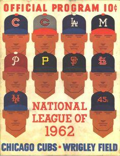 Cubs 1962 Scorecard