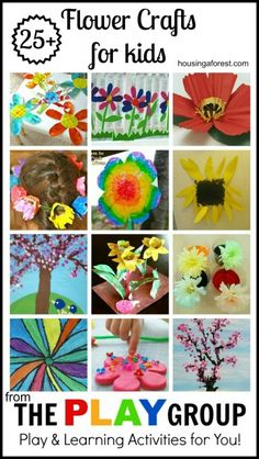 Preschool Flower Crafts for kids ~ fun spring flower crafts. Love the spring cherry tree, Georgia OKeefe flower and egg carton fairy wreath - Preschool Children Activities Spring Projects, Craft Projects, Craft Ideas, Spring Activities, Activities For Kids, Crafts To Do, Crafts For Kids, Spring Theme, Crafty Kids