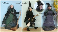 One Witch, scale 1/12, with its accessories. Made on request. <3 Remember that during the month of April 2017 you have FREE SHIPPING on orders in my Etsy shop, using the code: 5YEARSMINISHOP https://www.etsy.com/shop/marianarbon