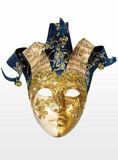 echt Venezianische Maske Colombina Jolly Velluto