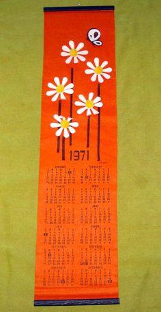1971 felt calendar