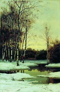The Athenaeum - Spring (Efim Efimovich Volkov - ) Ilya Repin, Glazing Techniques, Winter Painting, Spring Landscape, Russian Art, Landscape Paintings, Landscapes, Product Description, Places