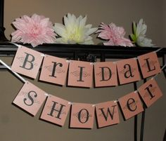 Bridal shower banner - customize your colors, pink and black, bachelorette, bride to be  #wedding