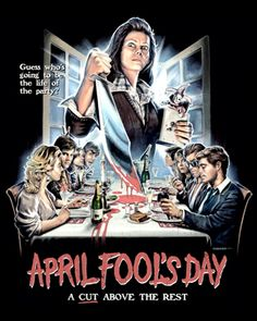 """'April Fool's Day' by Justin Osbourn """" Horror Icons, Horror Movie Posters, Cinema Posters, Horror Films, Horror Art, Film Posters, Horror Villains, Halloween Movies, Scary Movies"""