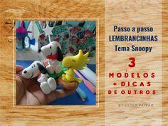 Passo a Passo Lembrancinhas + dicas tema Snoopy