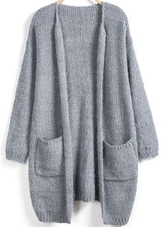 Shop Grey Long Sleeve Pockets Loose Cardigan online. Sheinside offers Grey Long Sleeve Pockets Loose Cardigan & more to fit your fashionable needs. Free Shipping Worldwide!