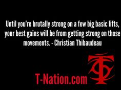 Free workout articles by Thibaudeau at T-Nation.com.
