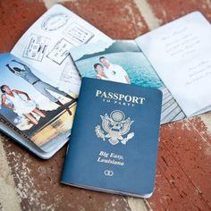 Your Passport for FUN! A destination wedding & reception after you return.