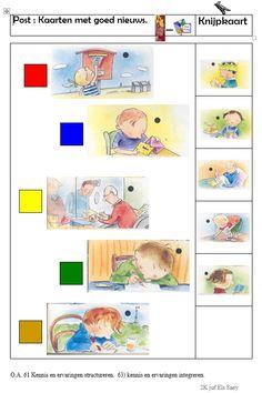 Knijpkaart : Kaarten met goed nieuws -> opdrachtkant Teaching, Comics, School, Toddler Activities, Utility Pole, Paper, Numeracy, Schools, Education